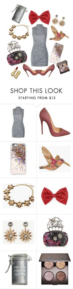 """""""Shiny lady!!!!!"""" by zivkovic-aleksandra ❤ liked on Polyvore featuring Harrods, Christian Louboutin, Casetify, Chico's, J.Crew, Ann Taylor, Alexander McQueen, Major Moonshine and Laura Mercier"""