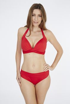 Lagoon Halter Triangle Top & Fold Pant | Red