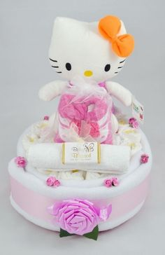 £29.99 Hello Kitty Nappy Cake http://www.baby-blessed.co.uk/nappy-cakes.html