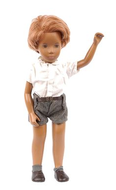 """15"""" Gregor Shorts doll, earliest English ginger haired boy, from the Sasha range of dolls, United Kingdom, 1968, by Frido (later Trendon)."""