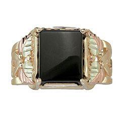 Onyx Black Hills Gold Ring