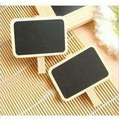 HuaYang Cute Mini Blackboard Chalkboard Office Home Wooden Message Labels Holder Clip Mini Chalkboards, Blackboards, Sunshine Birthday Parties, Cheap Gifts, Novelty Items, Teaching Materials, Paper Clip, Party Supplies, School Supplies