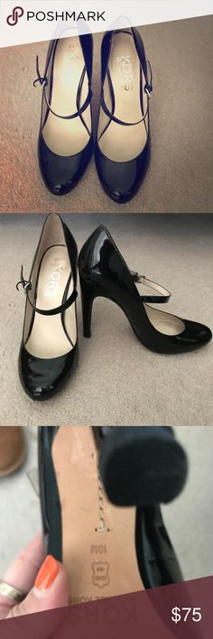 "Used michael kors mary jane heels size 10 These shoes were worn only once inside like new. Size 10 heel height 4"" KORS Michael Kors Shoes Heels"
