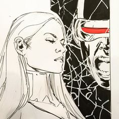 Emma Frost and Cyclops by Phil Jimenez