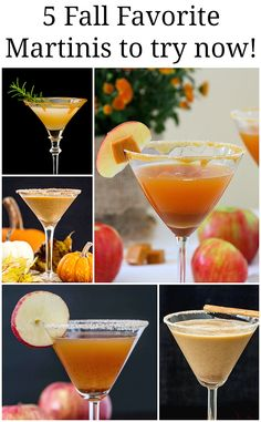 5 Fall Favorite Martinis to try as soon as possible! Perfect for your upcoming holiday gatherings.  #fall #Thanksgiving #holiday #martini