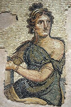 Parthenope and Metiokhos Mosaic. | Zeugma Mosaic