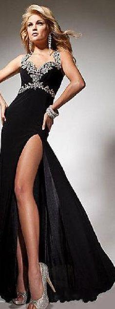 Sexy Chiffon Natural A-Line Long Sleeveless Prom Dress Sale klkdresses16542bjh #longdress #promdress