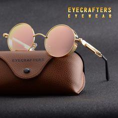 R  33.51 48% de desconto Óculos Polarizados Óculos de Sol do Metal do ouro  Gótico Steampunk óculos de Sol Das Mulheres Dos Homens de Moda Retro Do  Vintage ... a6eb780f52