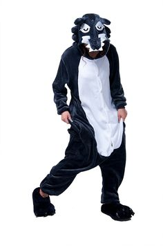 Erwachsene Kigurumi Pyjamas Panda Cosplay Tier Onesie Onesize Halloween Karneval