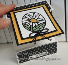 Stamp with Susie- Wow!  This is such a pretty Daisy using the 'Timeless Tags Thinlits Die'.