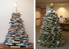 Christmas trees out of books!