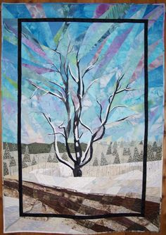 "Fresh Snow 41""x58"" by Elsie Vredenberg"