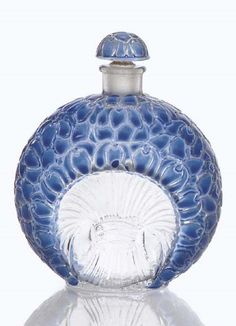 RENE LALIQUE 'La Violette,' An Enamelled Glass Perfume Bottle for Gabilla, 1925.