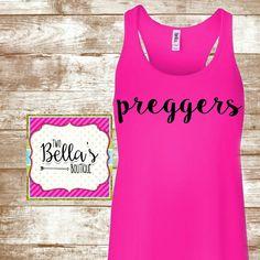 Pregnancy shirt, pregnancy tank, pregnancy announcement shirt, prego shirt…