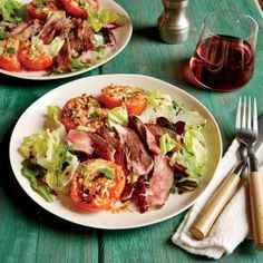 Sizzling Steak Recipes for the Grill | Tuscan Steak Salad  | MyRecipes.com
