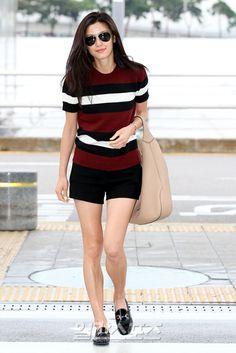 Jeon Ji Hyun at the Incheon International Airport on July 24, 2014