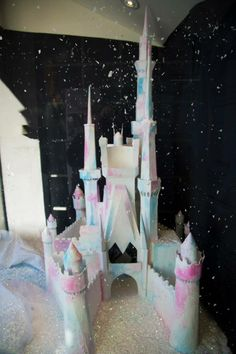 Christmas 2014 - Disney frozen castle (hand made by our staff)