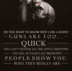 This is why I love the joker