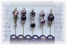 Mini Matchbook Stick Pins for Scrapbooking,Cardmaking or Mini Albums, Purple via Etsy