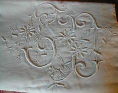 La Pouyette....: Old French Linen - Monograms - Old German Farmers Linen - Chanvre - Hemp ms -