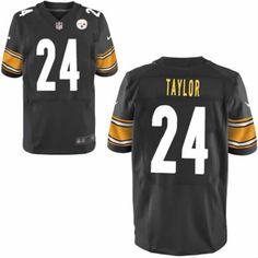 ... Jerseys Men Ike Taylor Pittsburgh Steelers Jersey 24 Black Elite Nike  NFL Jersey Sale ... 33a57e72f