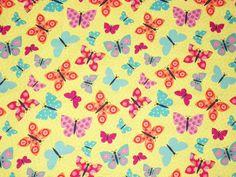 Butterfly Fabric By The Yard Fabric Studio by NeedlesnPinsStichery