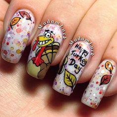 thanksgiving by madamluck #nail #nails #nailart