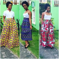 Awesome African Prints #african #maxi #maxiskirt #africanprint #africaninspired #fashion #africanheritage #blackheritage #roots #curlyhair #afro #islandvibes #africanmaxiskirt #kente #ootd #instafashion #stkitts #longskirt #diyproject #sewing #blackgirlsrock #outdoors #coffee #fashionista #westindian #ankara #waxprints #caribbeangirl#handmade
