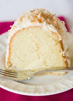 Coconut Bundt Cake with White Chocolate-Coconut Glaze | browneyedbaker.com