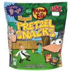 Utz Disney Phineas & Ferb Shaped Pretzel Snacks, 0.5 oz, 35 count