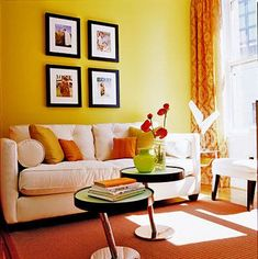 Yellow Accent Walls Room Colors Diy Living Decor Designs