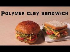 ▶ Polymer Clay Lunch Sandwich Tutorial (+ Tomato cane) - YouTube