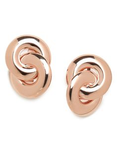 our rose gold double link studs!