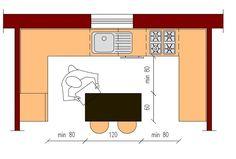 Cucina con isola o penisola: ecco i disegni delle principali tipologie con le dimensioni standard.