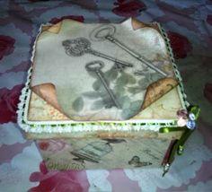Mi Rincón de Manualidades:  CAJA CON LLAVES Caja de cartón decorada con lámin...