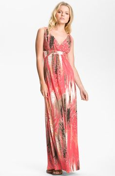 FELICITY & COCO V-Neck Print Jersey Maxi Dress available at Nordstrom