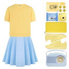 """Yellow"" by marinela-voda on Polyvore featuring WithChic, Miu Miu, adidas Originals, Smythson, Neutrogena and Nails Inc."
