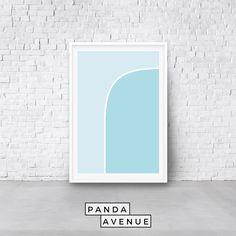 #Blue #Geometric #PRINTABLE #wallart #digitadownload #art #Abstract #MidCentury #HomeDecor #MidCenturyModern #WallDecor #WallPrints Blue Artwork, International Paper Sizes, Mid Century Style, Blue Abstract, Modern Wall Art, Geometric Art, Printable Wall Art, Online Printing, Printables