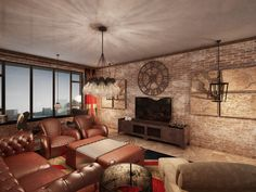 industrial style, interior design
