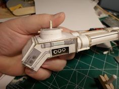 Side view showing some of the details on the main body. Thye main body is based on the body intended for the Plasma blast cannon.