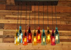 10Light Modern Recycled Bottle Chandelier  The by MoonshineLamp, $1175.00