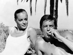 La piscine de Jacques Deray. Alain Delon & Romy Schneider. 1968.