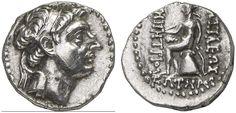 AR Drachm. Greek Coin, Seleucid Kingdom of Syria, Demetrios I. Soter, king 162-150 BC, Ekbatana mint. 4,30g. SNG Spaer 1382. EF. Price realized 2011: 260 USD.