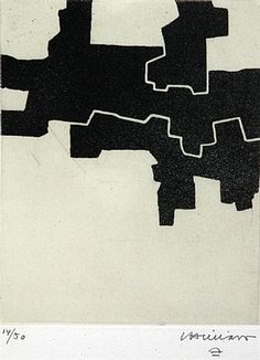 Eduardo Chillida Gaur II (Hoy), Prints and multiples, etching on laid paper. Plate size: H x W. Sheet size: H x W. Edition of 50 copies. Abstract Words, Abstract Art, Yaacov Agam, Sculptures For Sale, Spanish Artists, 2d Art, Illustration Sketches, Textile Prints, Abstract Pattern
