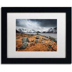 Trademark Fine Art Fever Canvas Art by Philippe Sainte-Laudy, White Matte, Black Frame, Size: 16 x 20, Orange