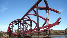 The Peace Bridge under construction - Photograph from the Institut Canadien de la construction en Acier