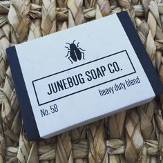 Our Heavy Duty Blend bar soap combines activated charcoal, black walnut, shredded loofah, sea clay, chamomile, olive leaf, and your choice of essential oil for a  solid bar that will leave your hands fresh and clean. Get yours at junebugsoapco.com #natural #scrub #soap