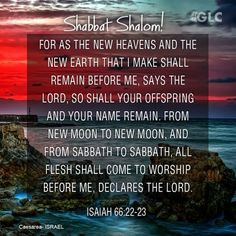For as the new heavens and the new earth, which I will make, shall remain before…