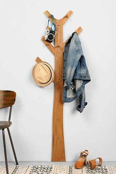 Tree Clothes Rack Could easily DIY