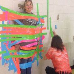 Relay for Life is tonight. Kids bought strips of tape for $1 and we taped our admins to the wall. Just another day at the Creek. #teachersofinstagram #iteachtoo #teachersfollowteachers